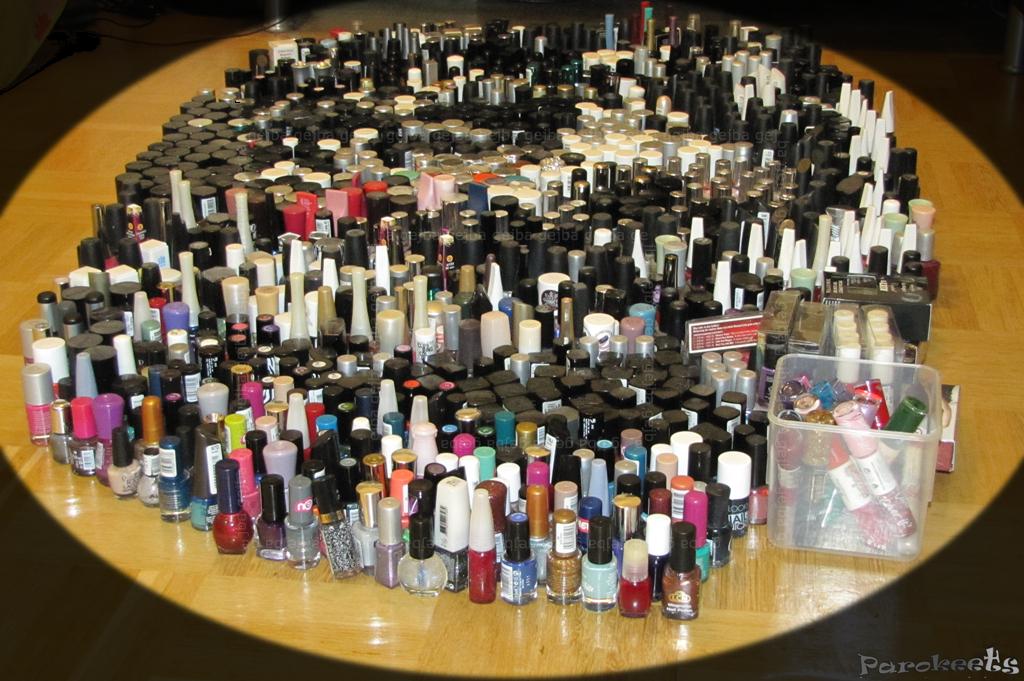 Nail polish collection front