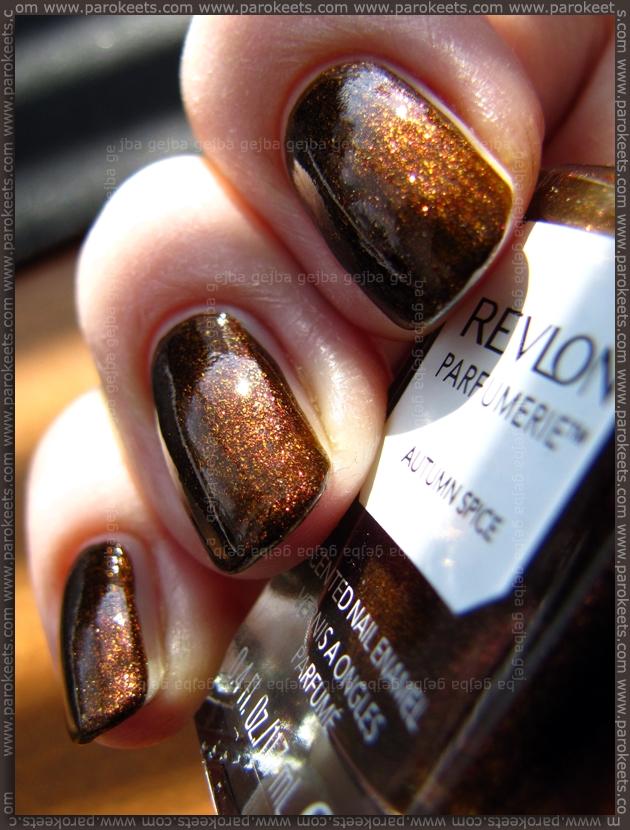 Revlon Parfumerie Autumn Spice sun swatch