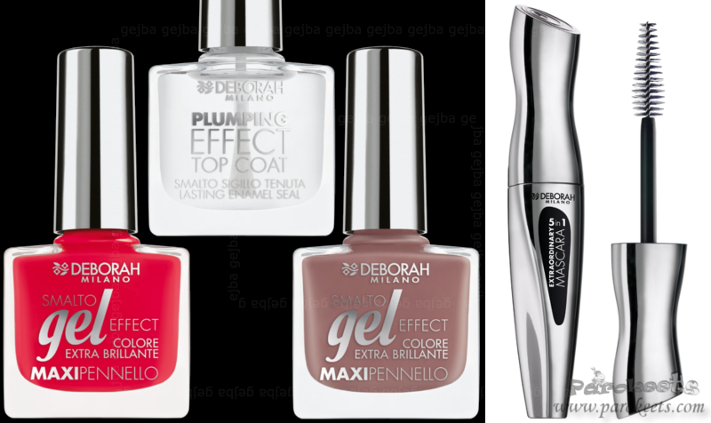 Deborah Gel Effect nail polishes and Extraordinary 5-in-1 Mascara