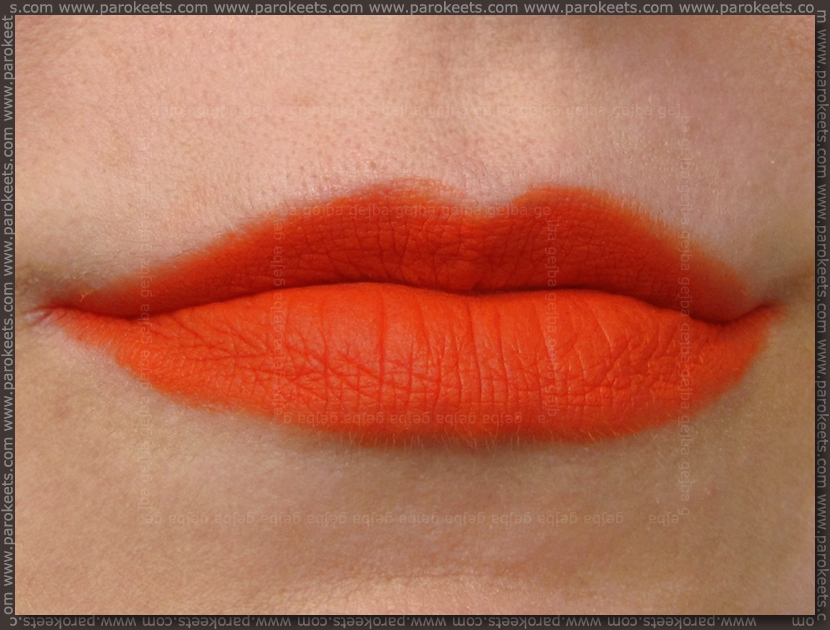 Illamasqua Matte Lip Liquid Exotic lip swatch