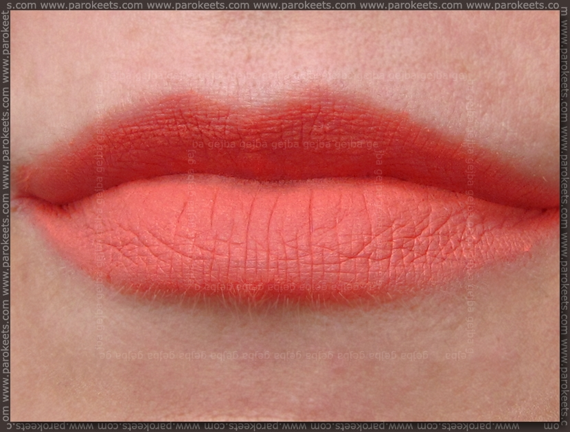 Illamasqua Matte Lip Liquid Surrender lip swatch
