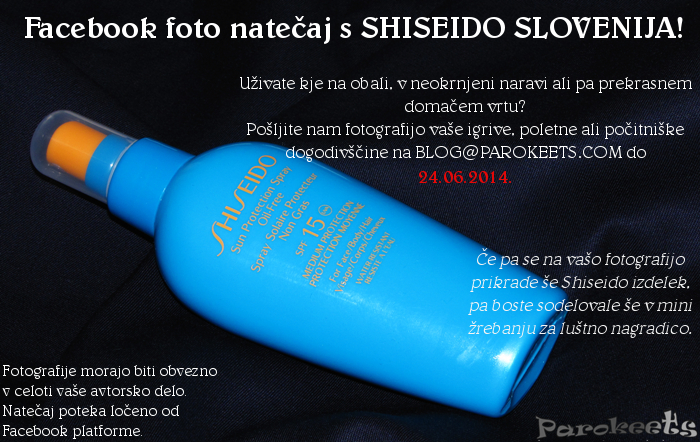 Shiseido Facebook natečaj