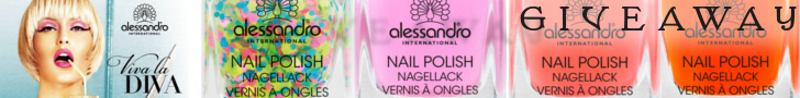 This time we're giving away 4 Alessandro Viva La Diva nail polishes!