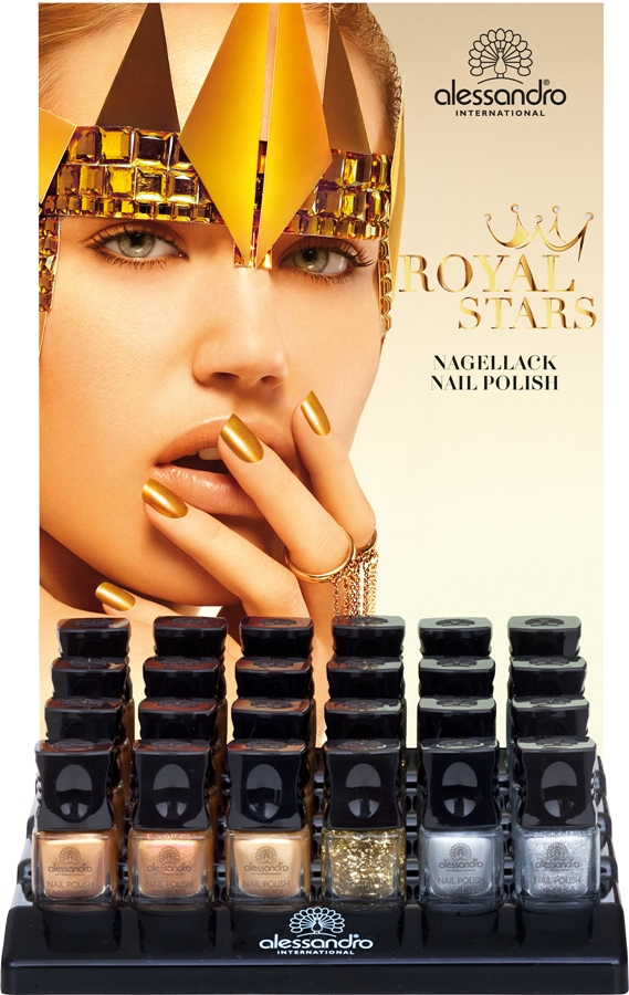Alessandro Royal Stars nail polish display