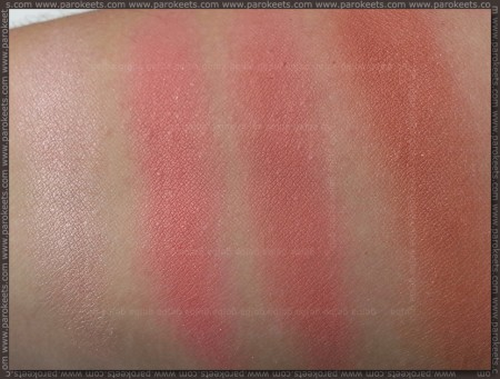 Revolution Ultra Blush Palette Hot Spice swatch