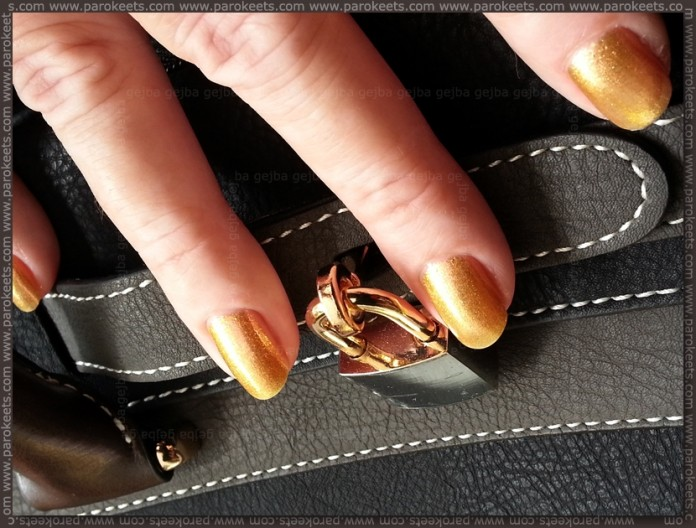 Alessandro Royal Stars - Fabulous Jewel nail polish on bag