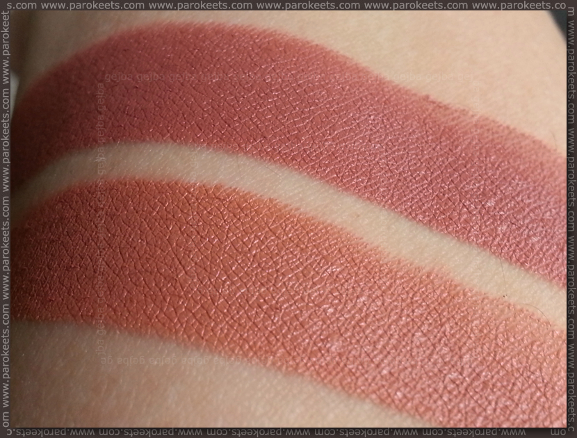 Illamasqua Nude and Starkers lipstick swatch