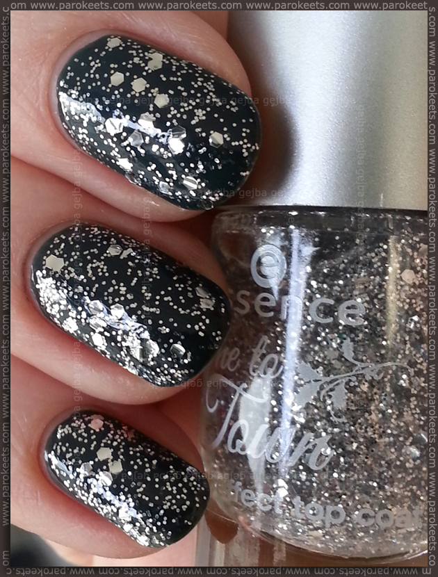 Essence Got my list (Come to town LE) green, silver top coat