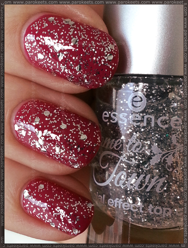 Essence Got my list (Come to town LE) pink, silver top coat