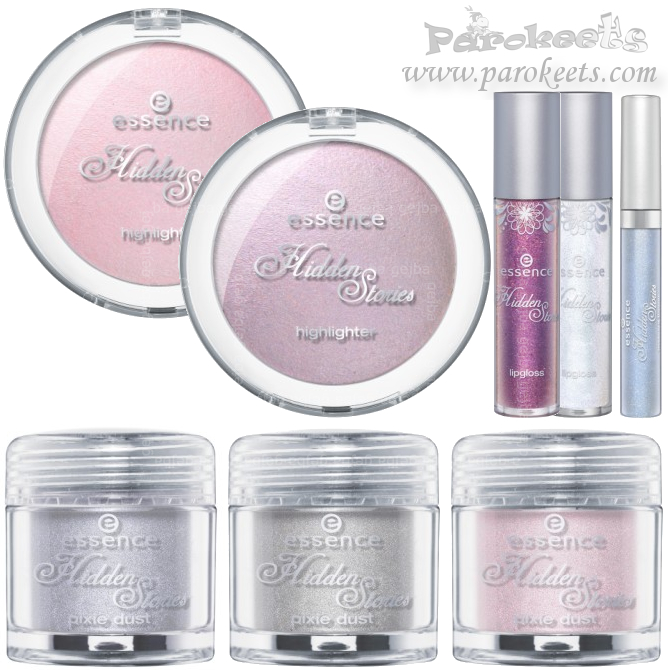 Essence Hidden Story LE preview highlighter, pixie dust, lip gloss