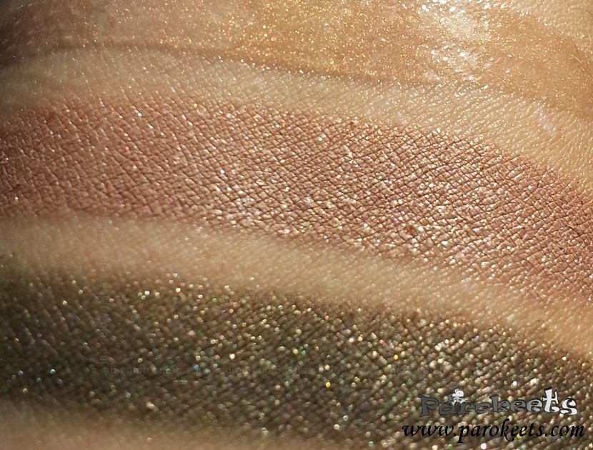 Illamasqua Once - Bibelot, Courtier, Exquisite swatch (sun)