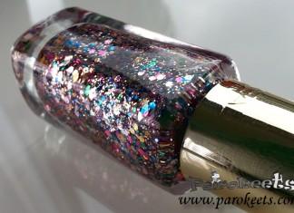 L'Oreal Sequine Explosion (842) nail polish detail nail polish bottle