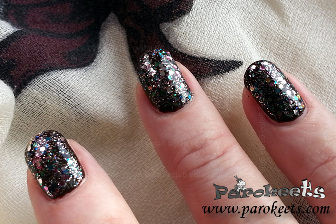 L'Oreal Sequine Explosion (842) nail polish swatch