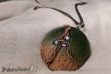 Brlogarka Amazonia fimo necklace