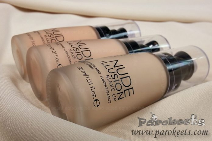 Catrice Nude Illusion liquid foundation bottles pump