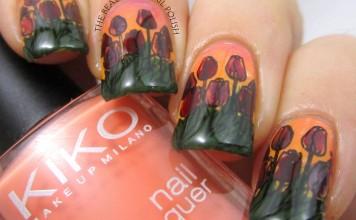 Tara - tulips manicure 2