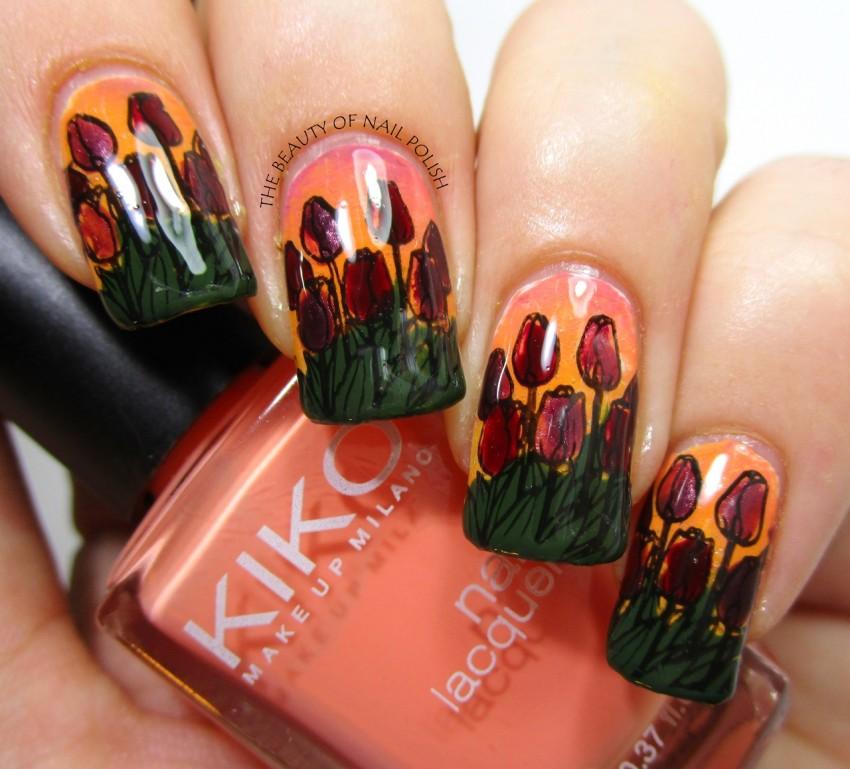 Tara - tulips manicure 4