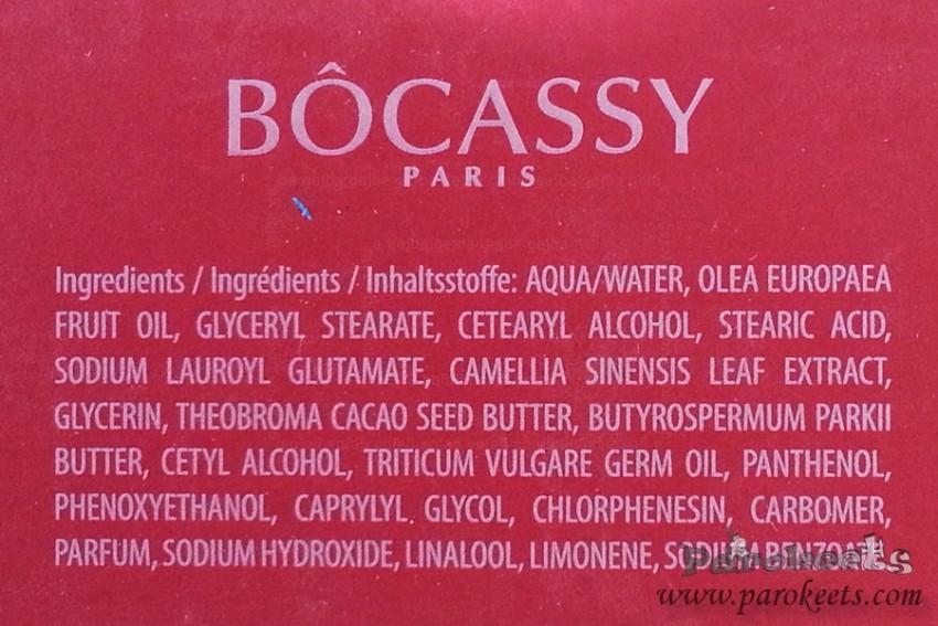 Bocassy Light Day Cream INCI ingredients