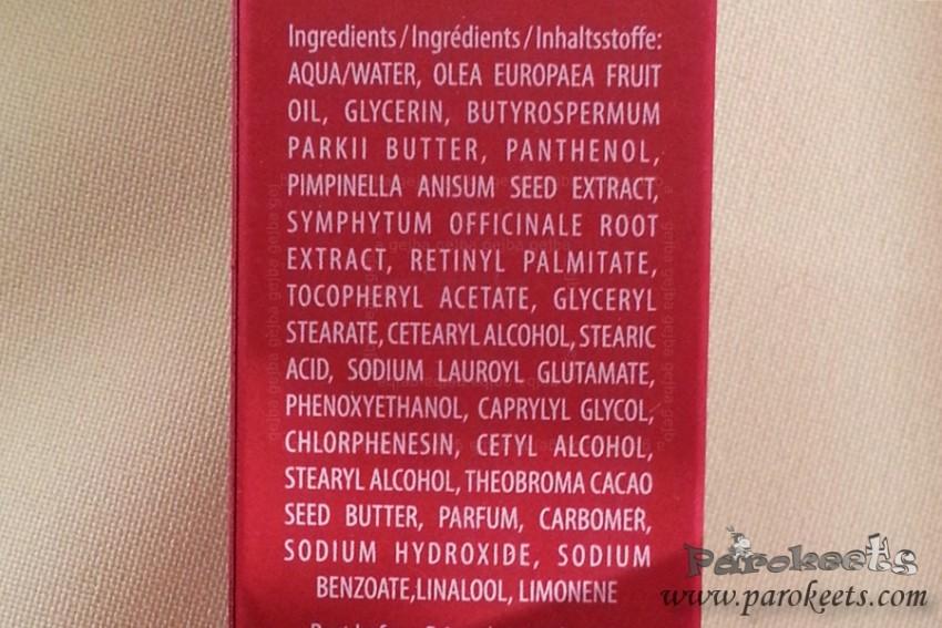 Bocassy Serum INCI ingredients