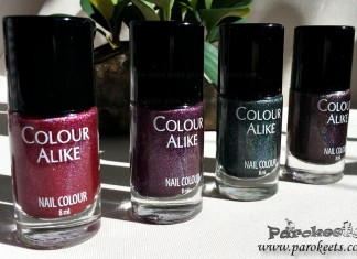 Colour Alike dark holographic nail polish