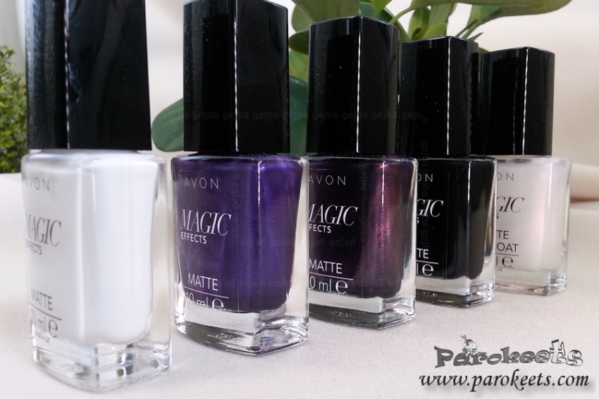Avon Matte Magic Effects nail polishes