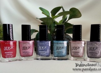 Avon Mineral Crush Magic Effects nail polishes