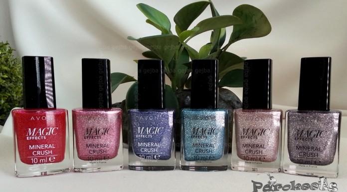 Avon Mineral Crush Magic Effects nail polishes