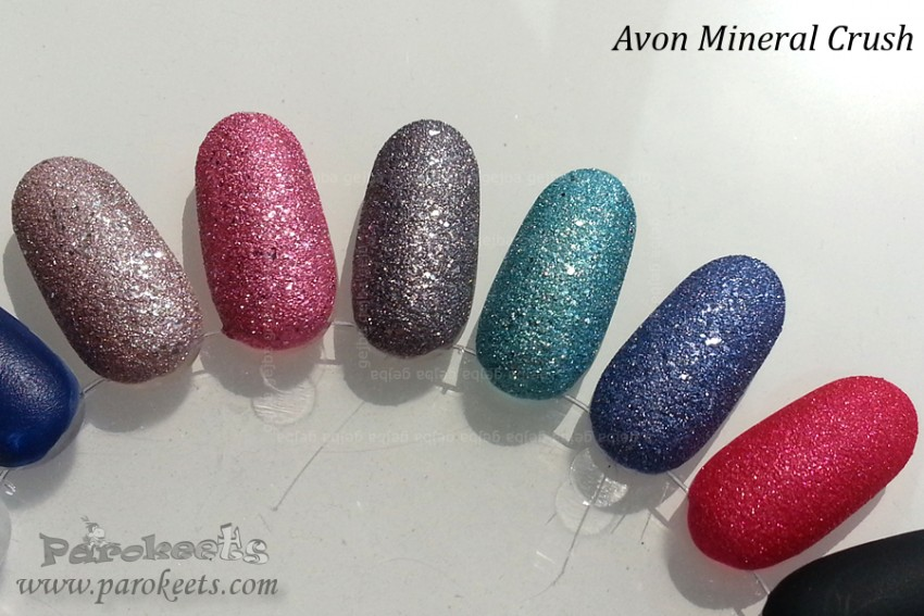 Avon Mineral Crush all polishes swatched