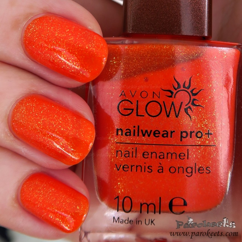 Avon Flaming Orange nail polish (Glow)
