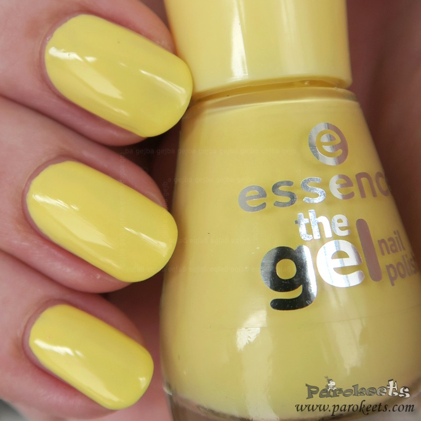 Essence Love is in the air (yellow) nail polish