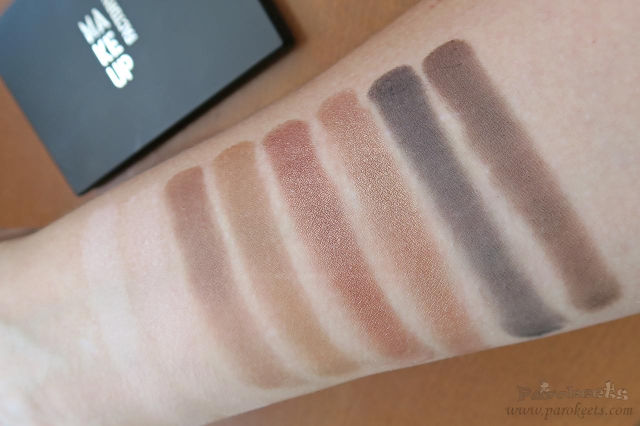 Make up Factory Warm Earth eyeshadow palette (daylight)