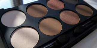 Make up Factory Warm Earth eyeshadow palette (opened, sun)