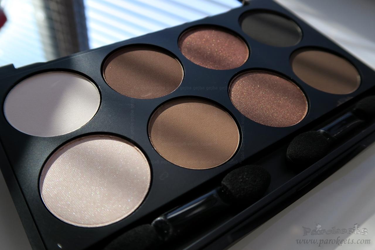 Make up Factory Warm Earth eyeshadow palette (opened, sun)