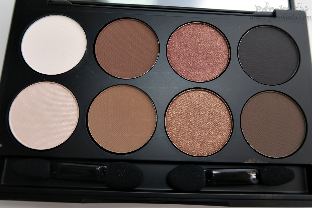 Make up Factory Warm Earth eyeshadow palette (opened)
