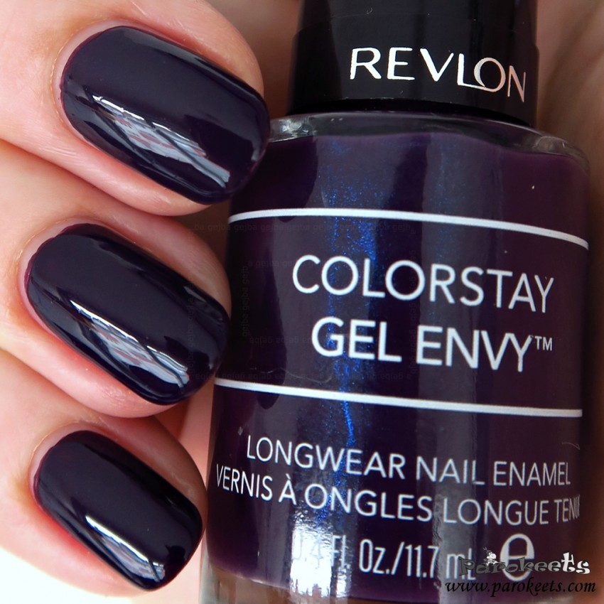 Revlon 450 High Roller nail polish swatch (Colorstay Gel Envy)
