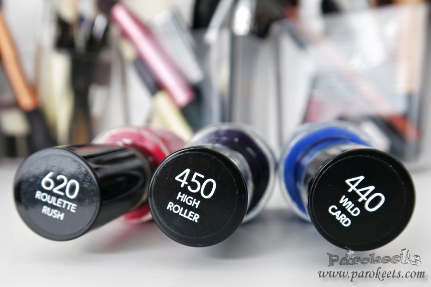 Revlon Colorstay Gel Envy nail polishes 440 450 620