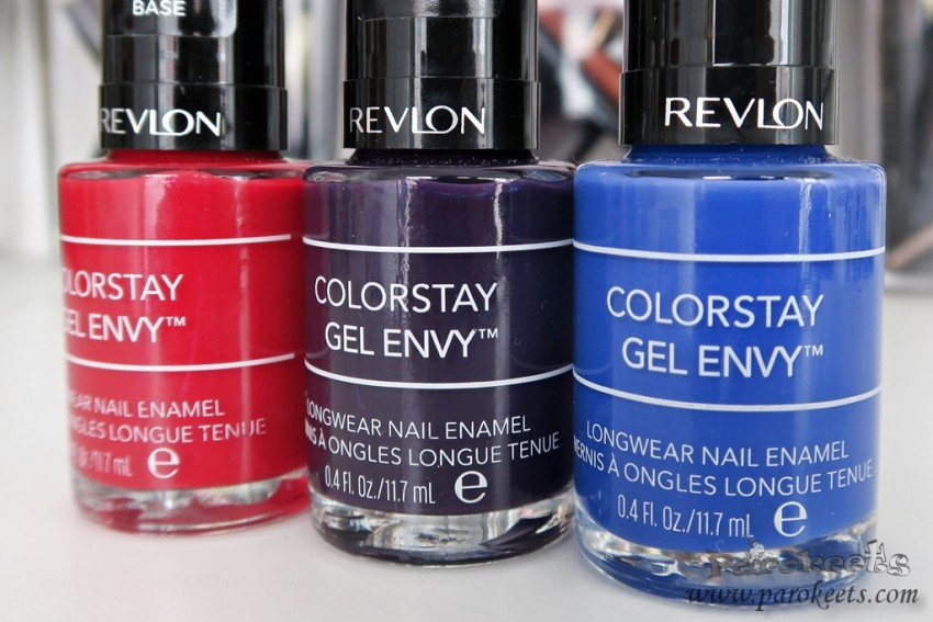 Revlon Colorstay Gel Envy nail polishes