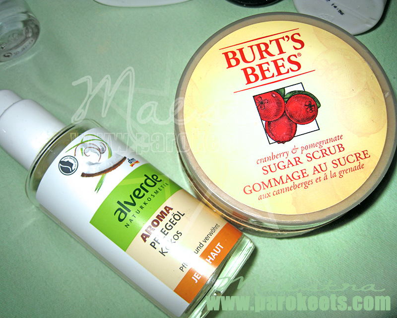 Alverde - Kokos Pflegeol, Burt' s Bees - Sugar Scrub