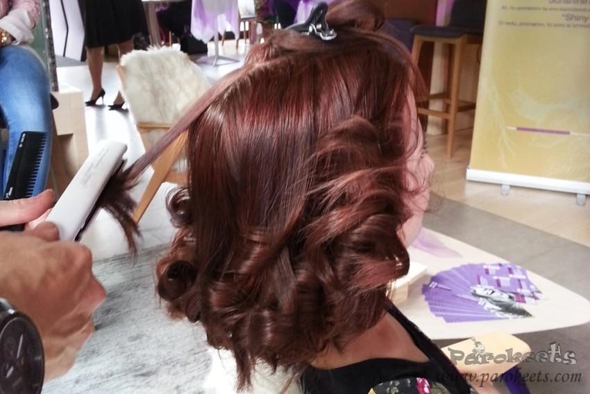 Ana Ina - frizura narejene na Aussie eventu