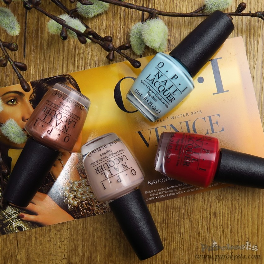 OPI Venice autumn 2015 collection
