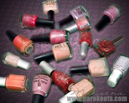 Pink polishes