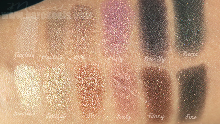 The Balm Nude Dude make up palette (swatch)
