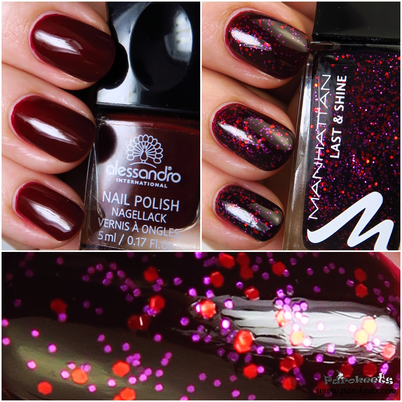 Ideas for simple and quick New Year\'s Eve party manicure   Parokeets