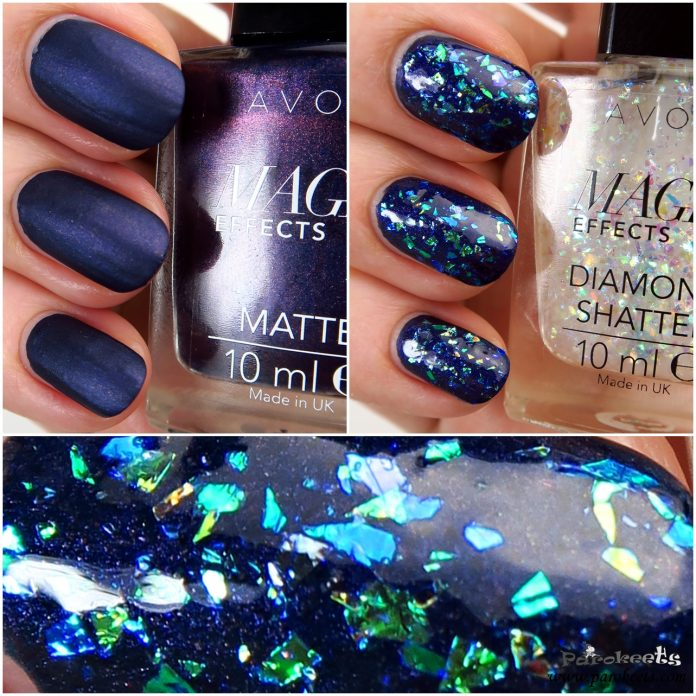 Avon Inky Blue + Diamond Shatter (Magic Effects) layering
