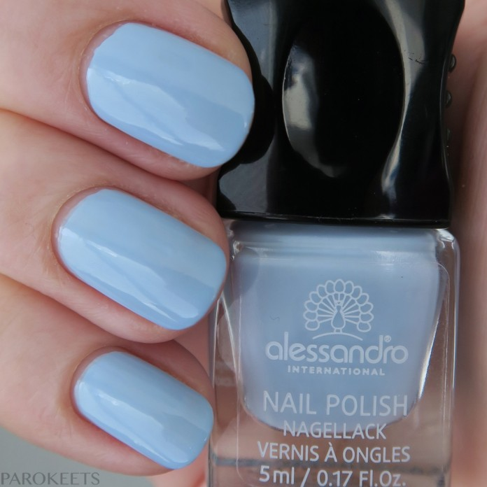 Alessandro Heavenly Skies (Cosmic Chic) pastel blue nail polish spring 2016