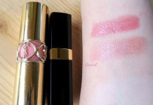 Chanel Rouge Coco Shine 54 Boy vs YSL Rouge Volupte Shine 8