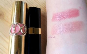 Chanel Rouge Coco Shine 54 Boy vs YSL Rouge Volupte Shine 8