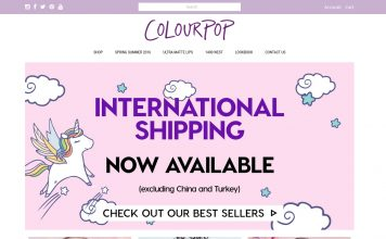 Colourpop International shipping