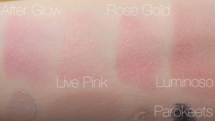 Rimmel vs Models Own vs Sleek vs Milani (blush)