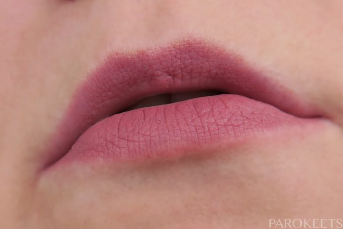 Essence Matt Matt Matt 02 Perfect Match lipstick swatch